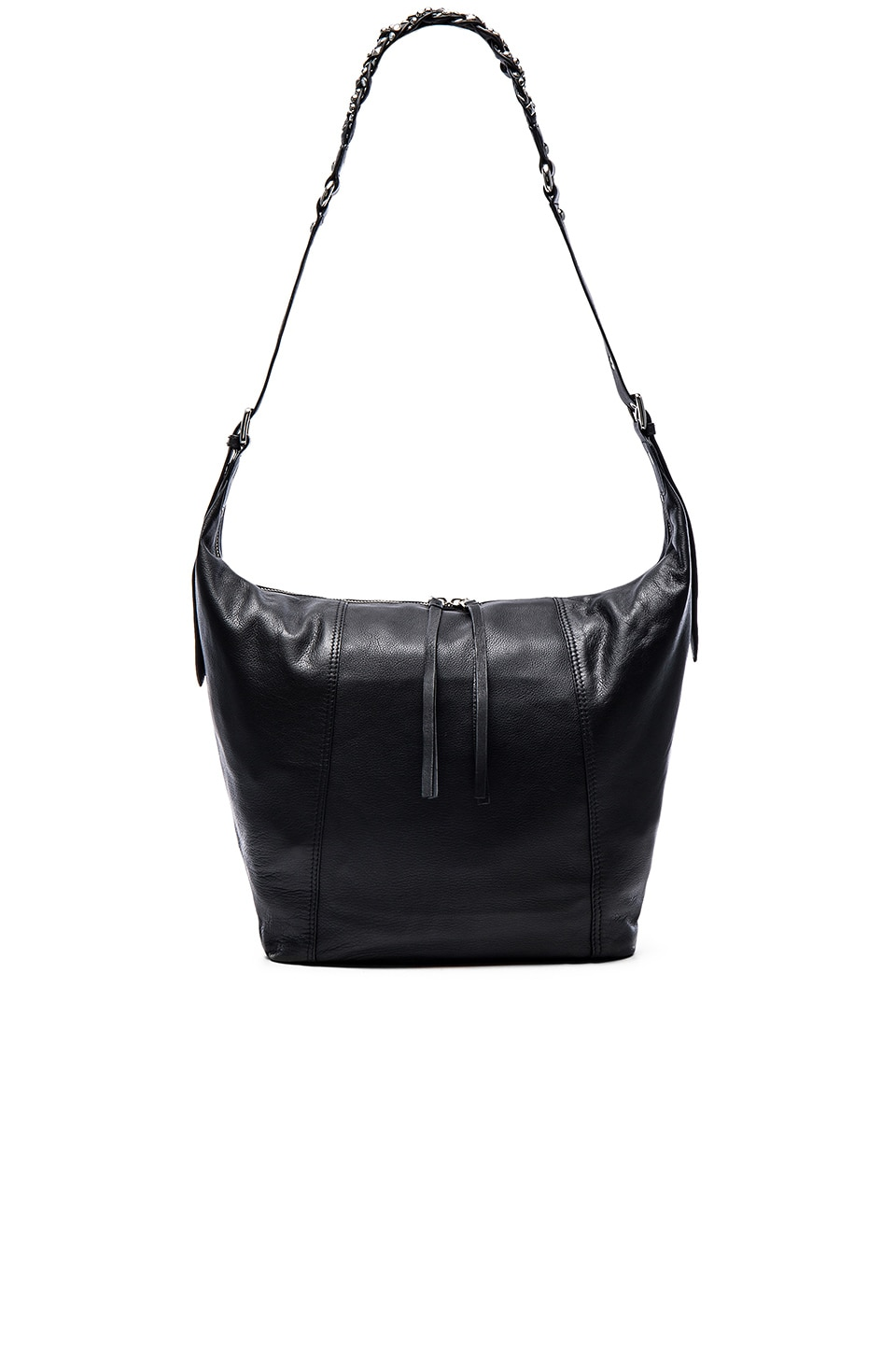 Ash Janis Shoulder Bag in Black