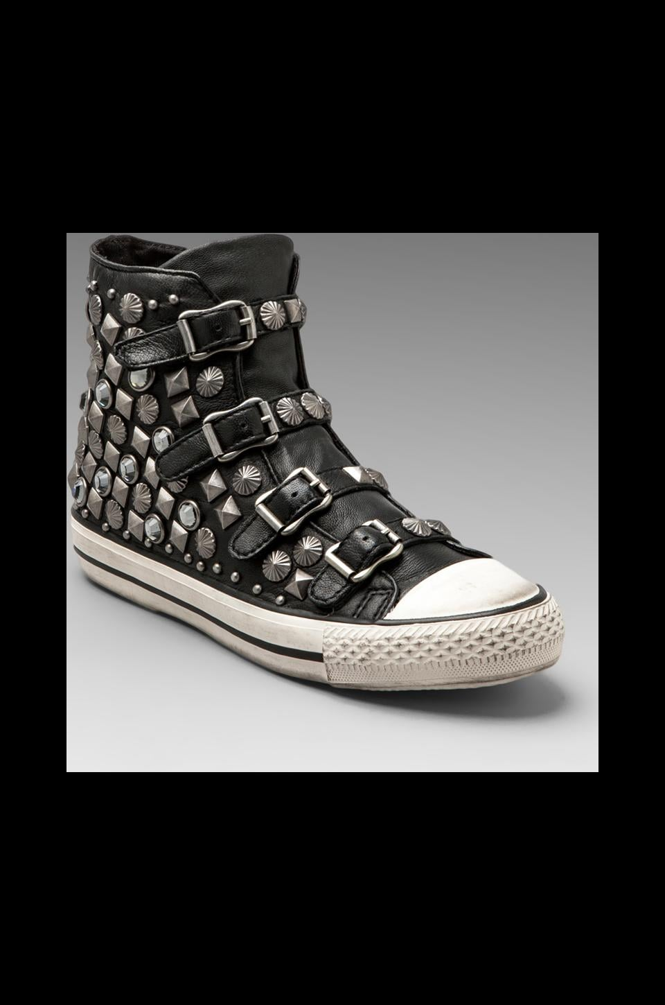 Ash Victim Sneaker in Black/Silver Tarnish Studs