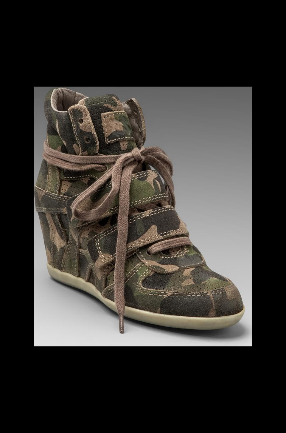 Ash Bea Wedge Sneaker in Military/Topo