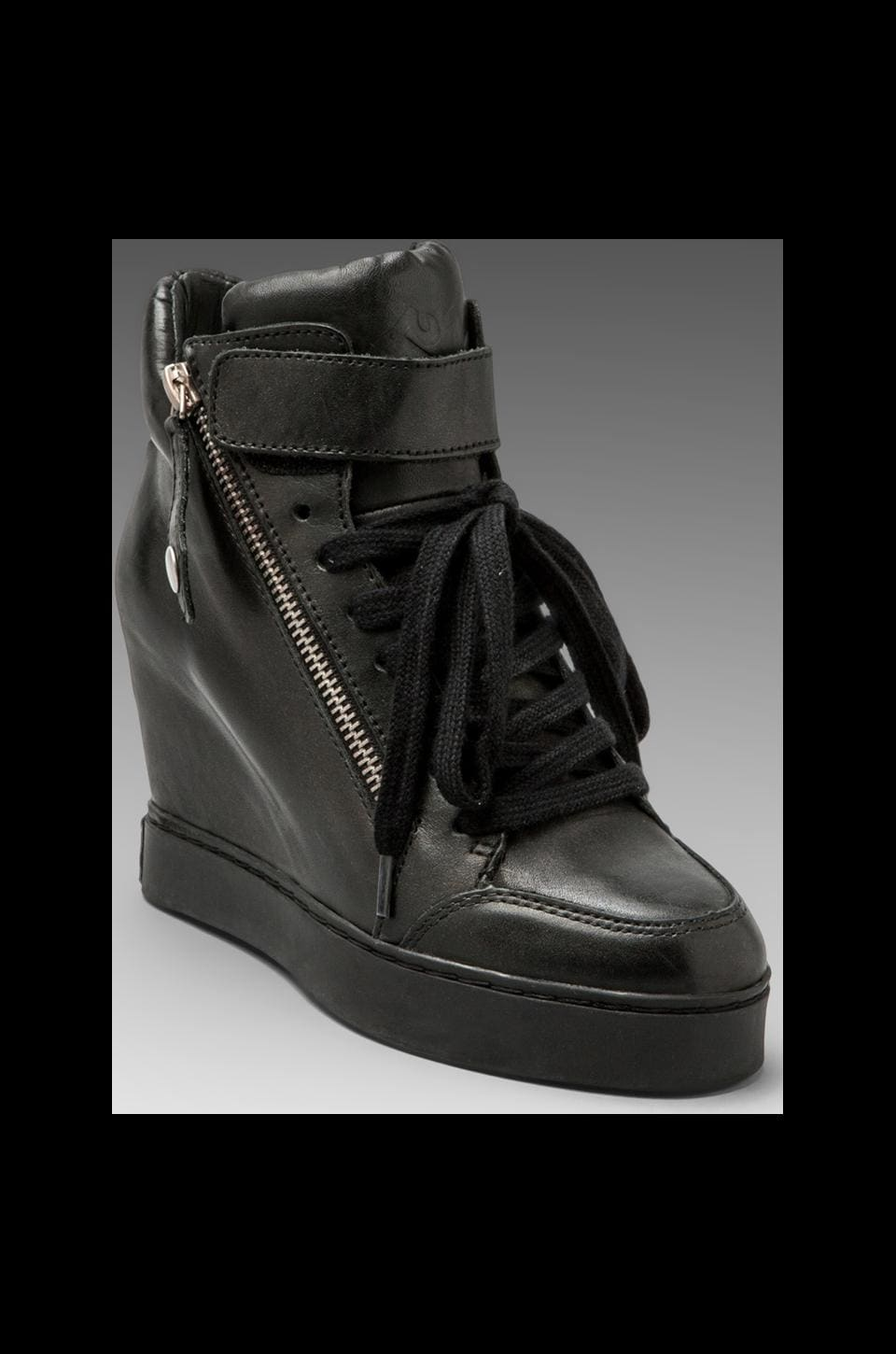 Ash Body Wedge Sneaker in Black