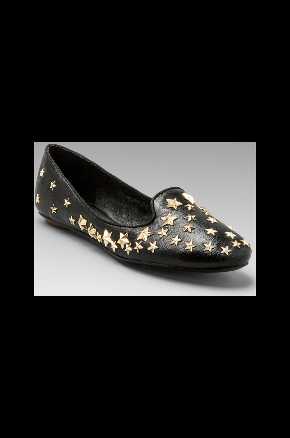 Ash Infini Star Studded Flat in Black