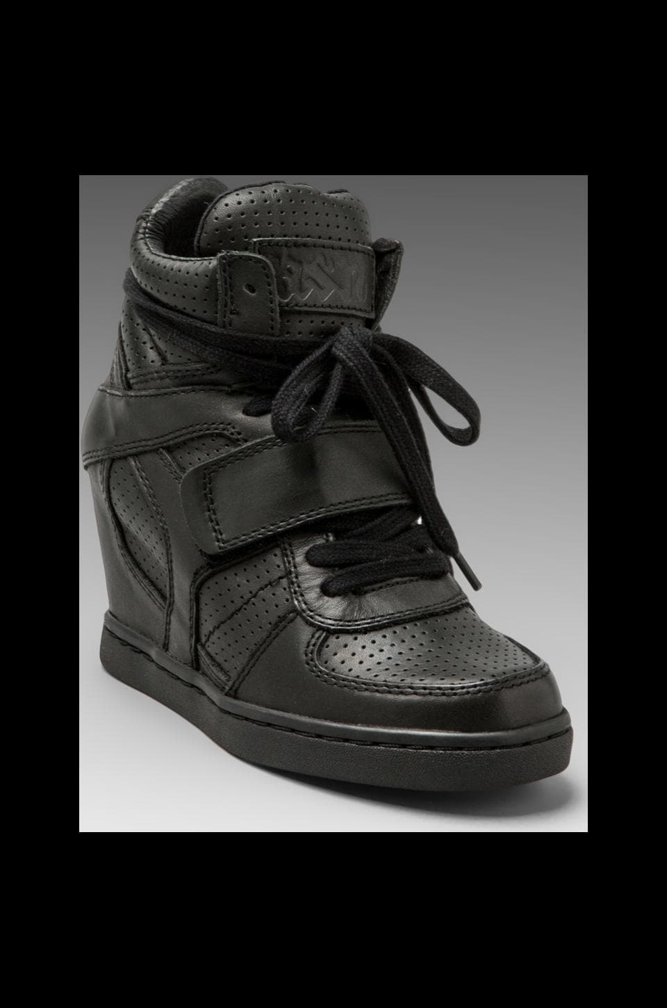Ash Cool Wedge Sneaker in Black All Vintage Metal