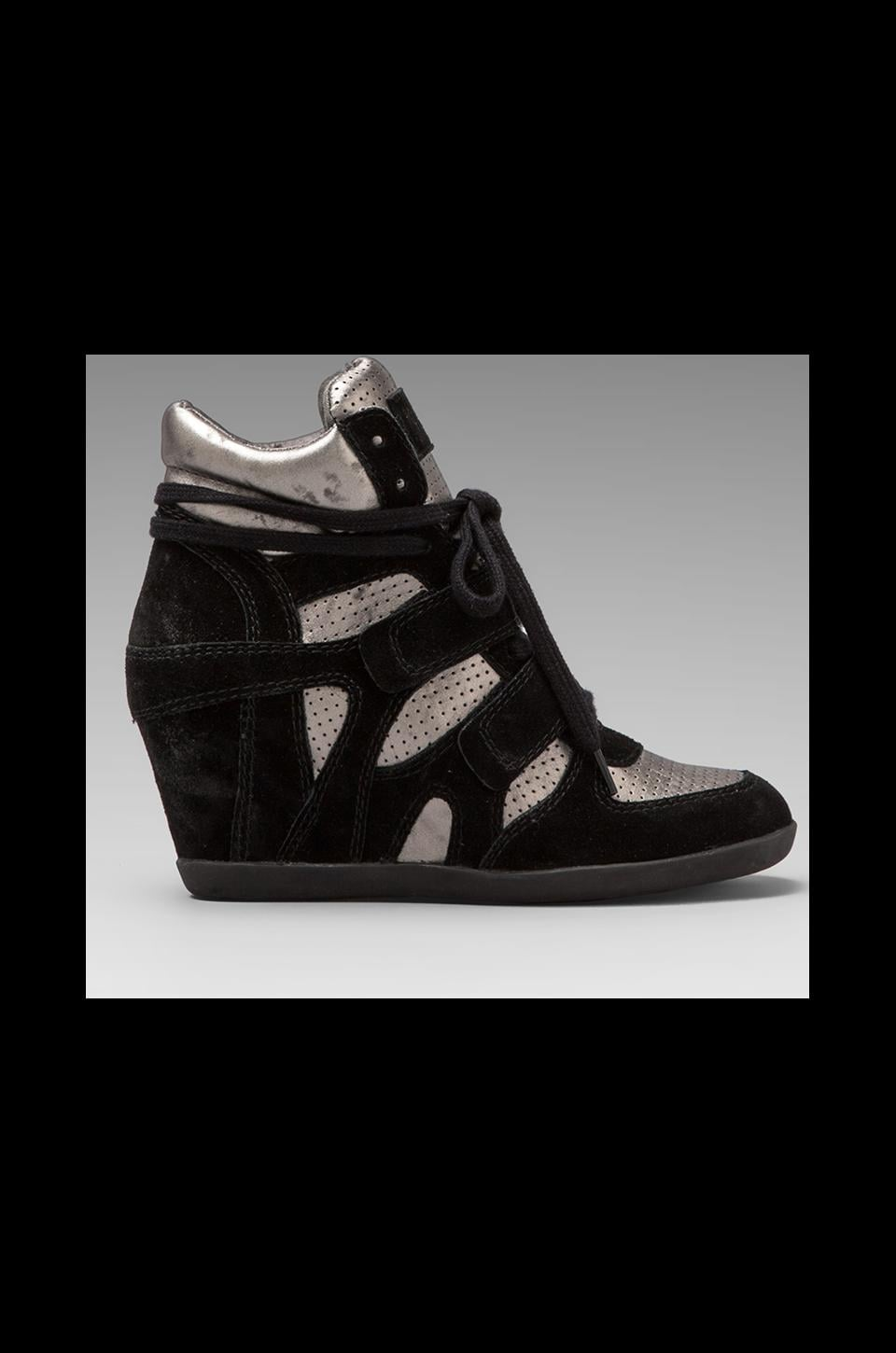 Ash Bea Wedge Sneaker in Black/Piombo