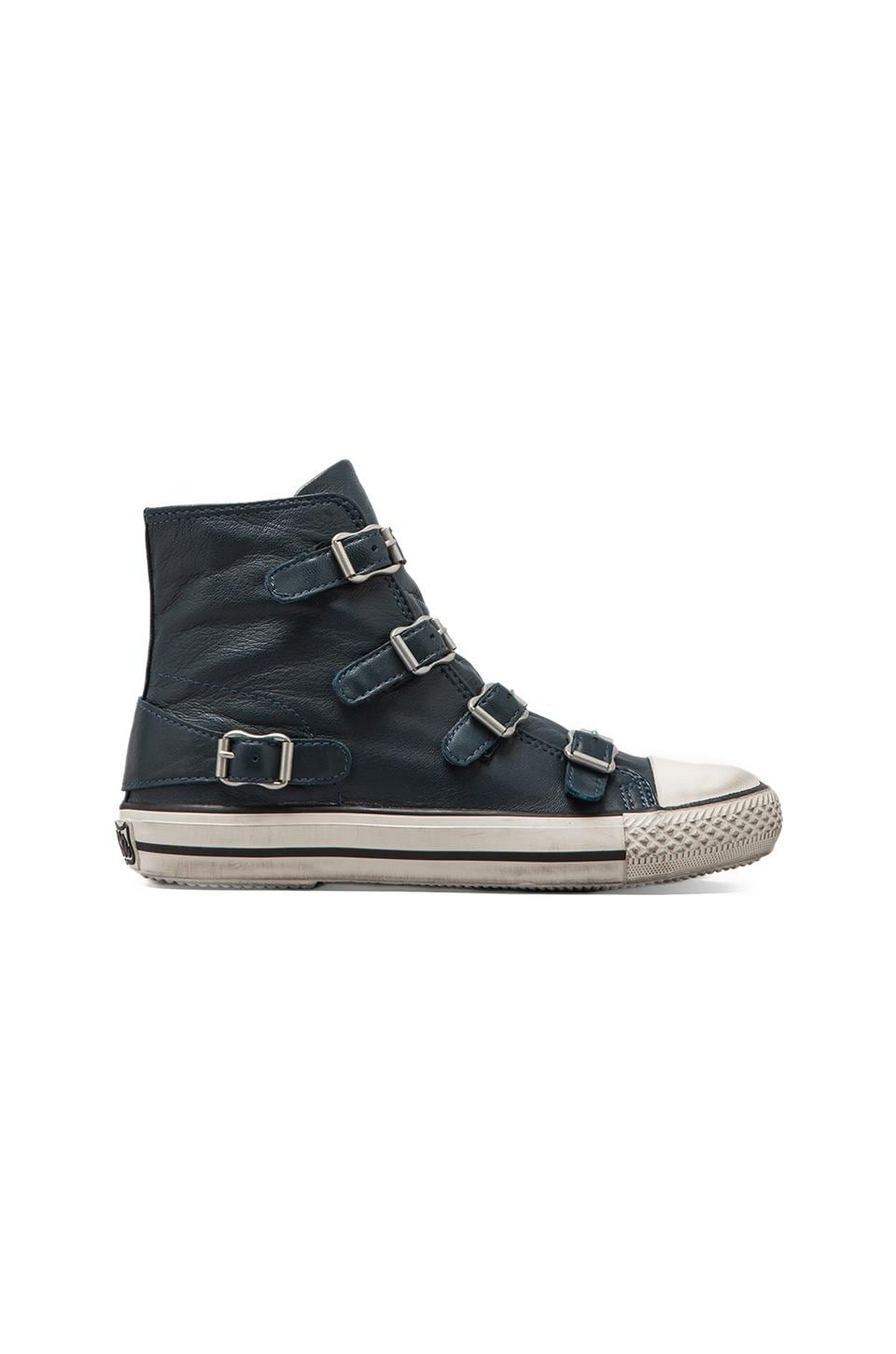 Ash Virgin Buckle Sneaker in Petroleum
