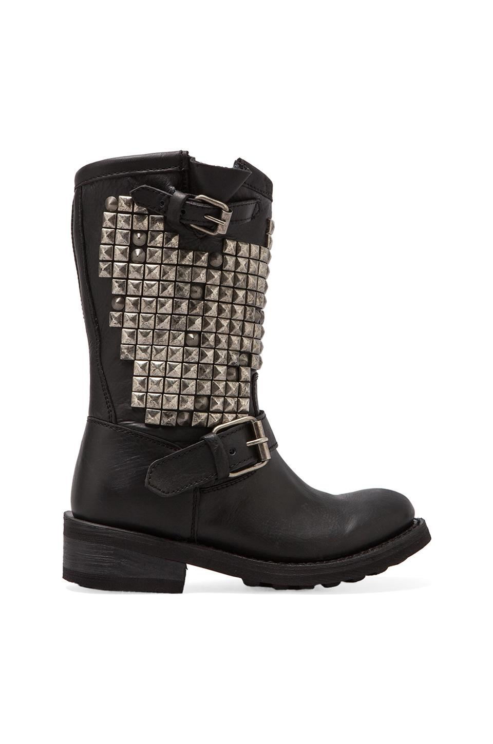 Ash Trash Studded Boot in Black/Tarnish Studs
