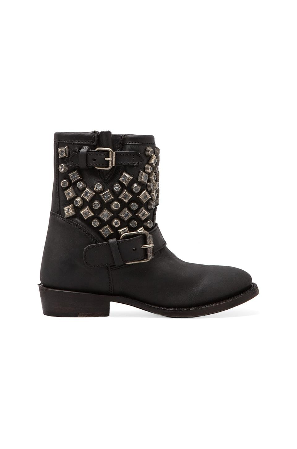 Ash Venin Studded Boot in Black/Nickel