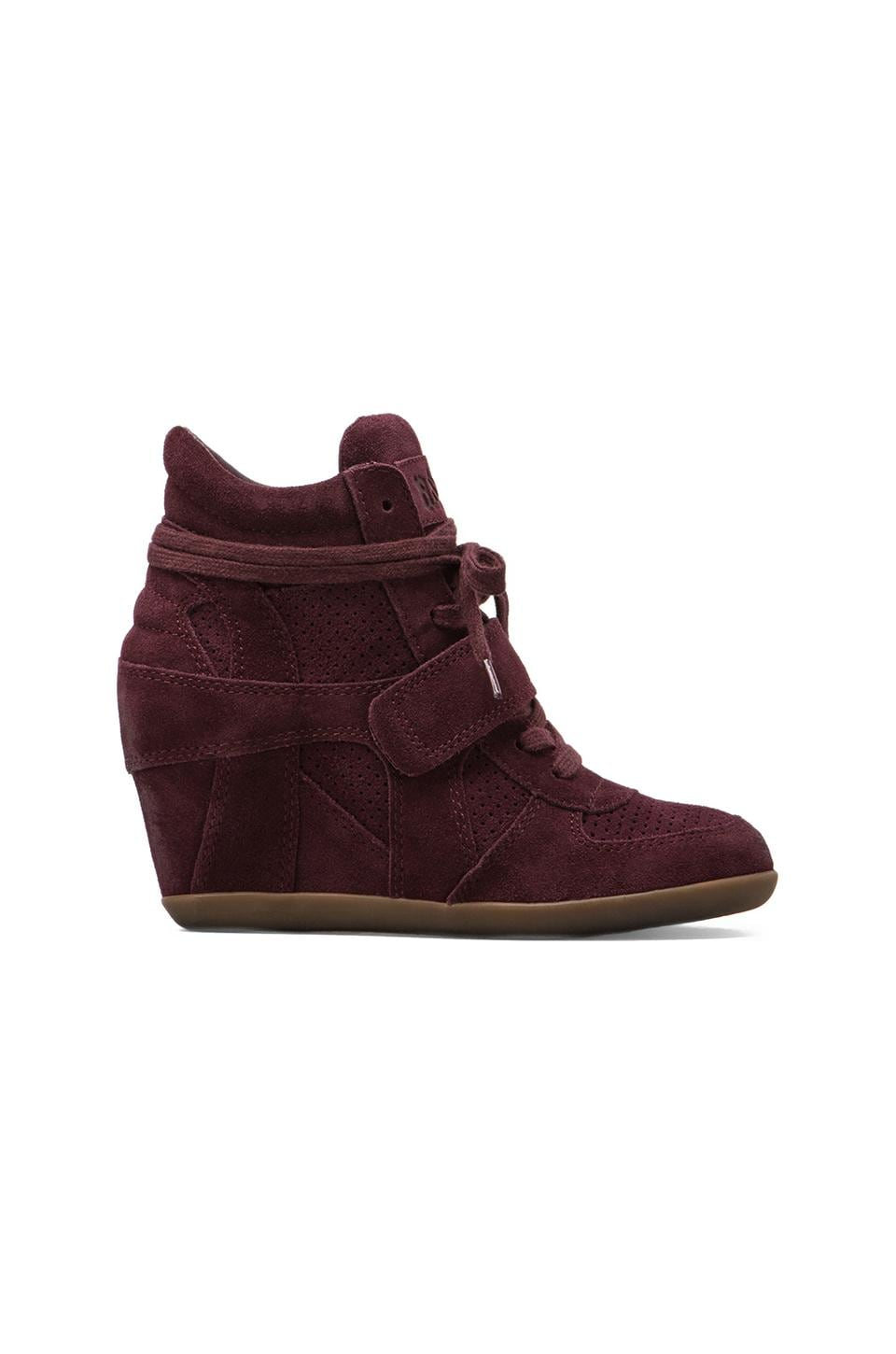 Ash Bowie Wedge Sneaker in Bordo