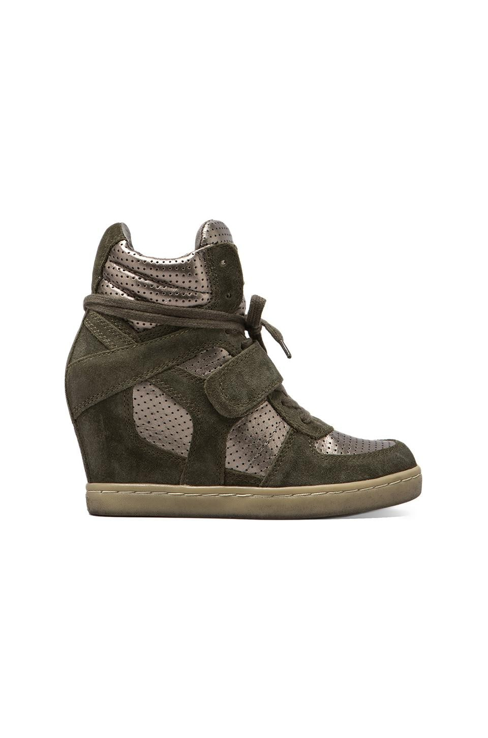 Ash Cool Wedge Sneaker in Military/Piombo