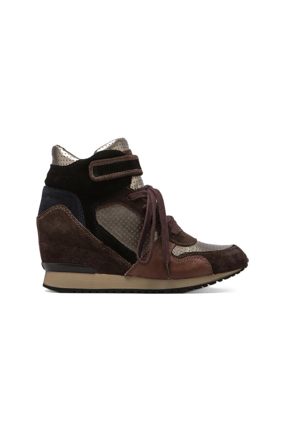 Ash Drum Wedge Sneaker in Wood Ash/Piombo