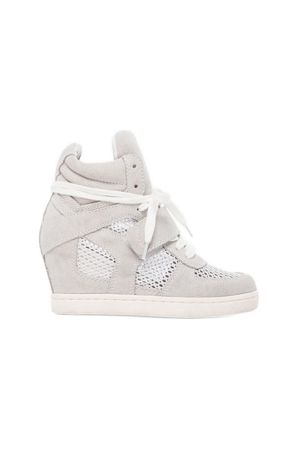 Ash Cool Mesh Sneaker in Off White & White