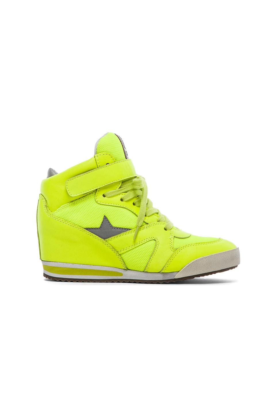 Ash Jazz Bis Sneaker in Fluo Yellow Multi