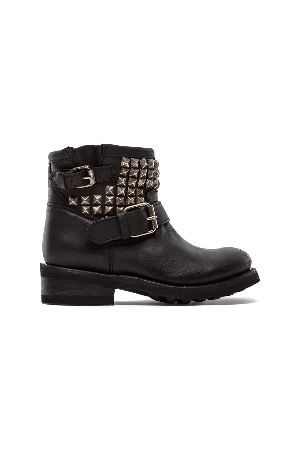 Ash Tramp Moto Boot in Black