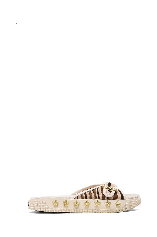 Ash Kappa Sandal with Pony Fur in Cream/Cream