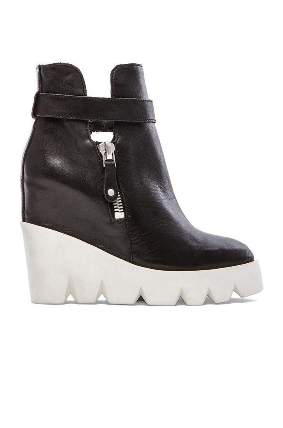Ash Ricky Bootie in Black & Off White & Silver