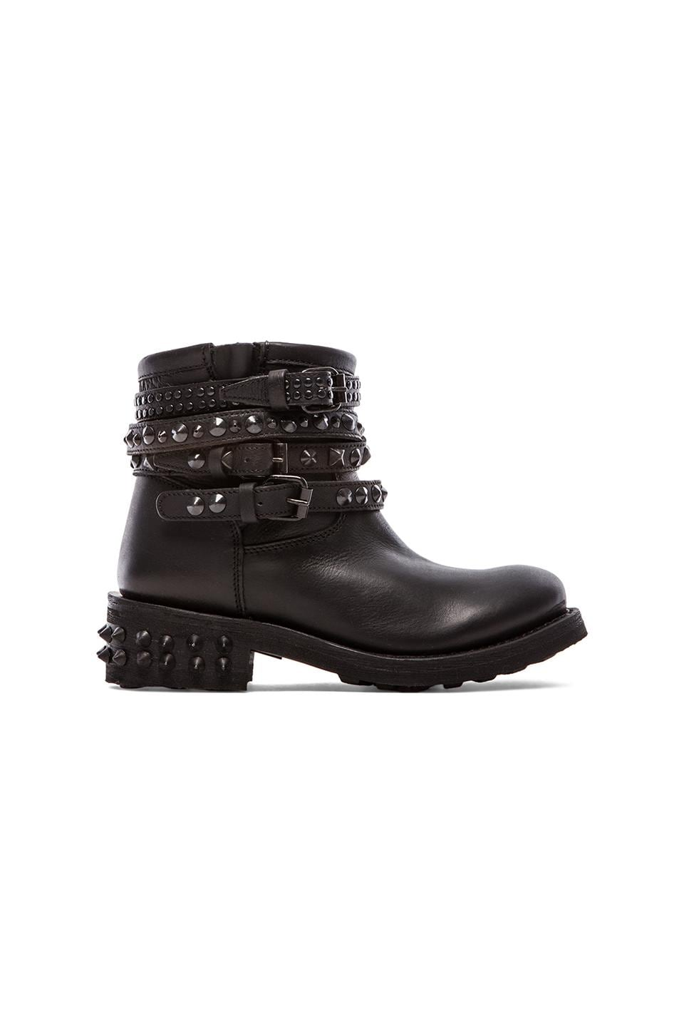 Ash Tatum Bis Boot in Black & Antic Silver