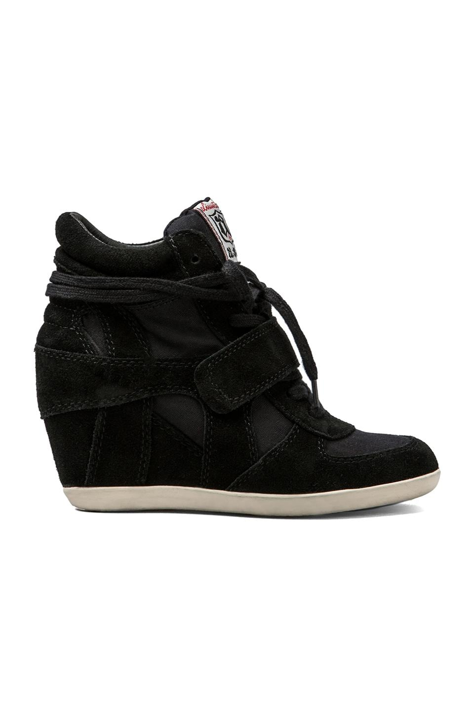 Ash Bowie Wedge Sneaker in Black