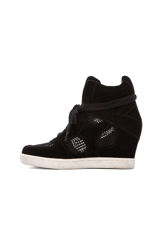 Ash Cool Mesh Wedge Sneaker in Black/Black