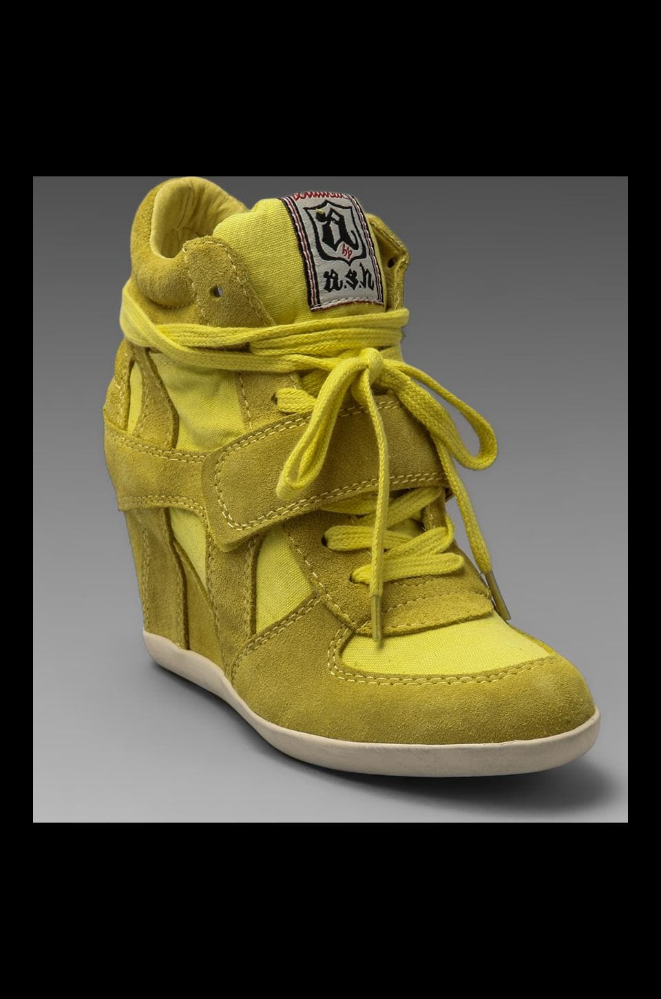 Ash Bowie Wedge Sneaker in Lemon