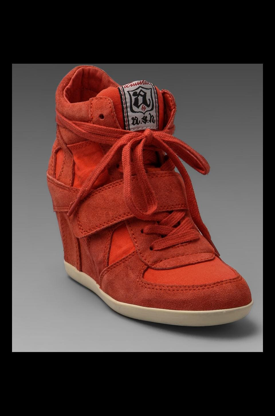 Ash Bowie Wedge Sneaker in Coral