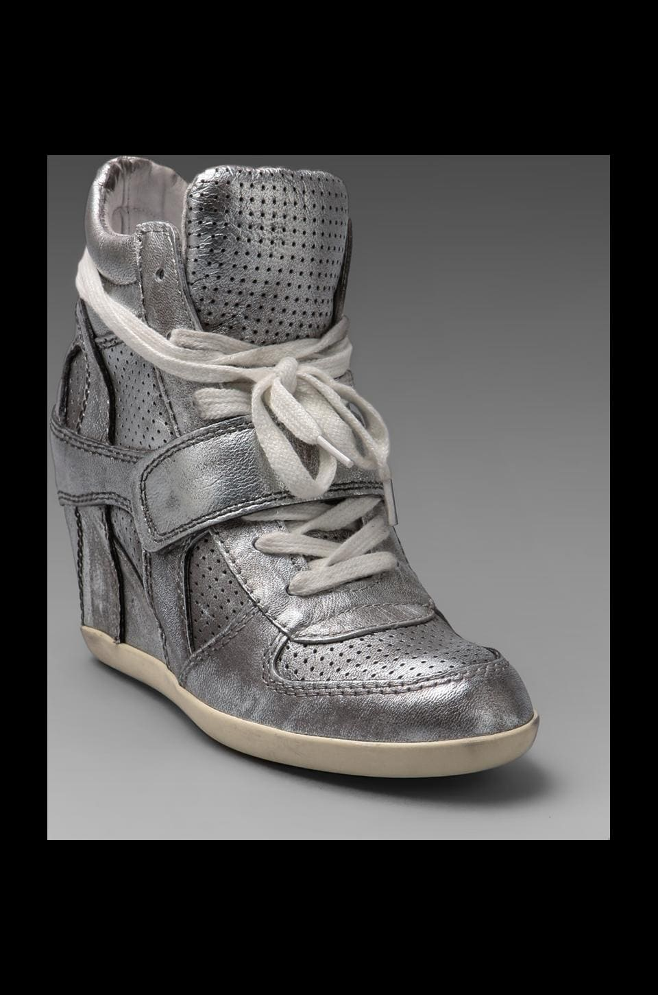 Ash Bowie Ter Wedge Sneaker in Silver