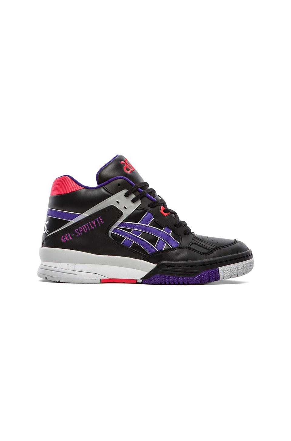 Asics Re-Issue Gel Spotlyte in Black &  Purple