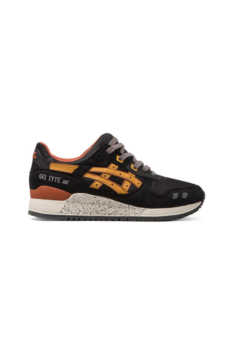 Asics Gel Lyte III in Black/Tan