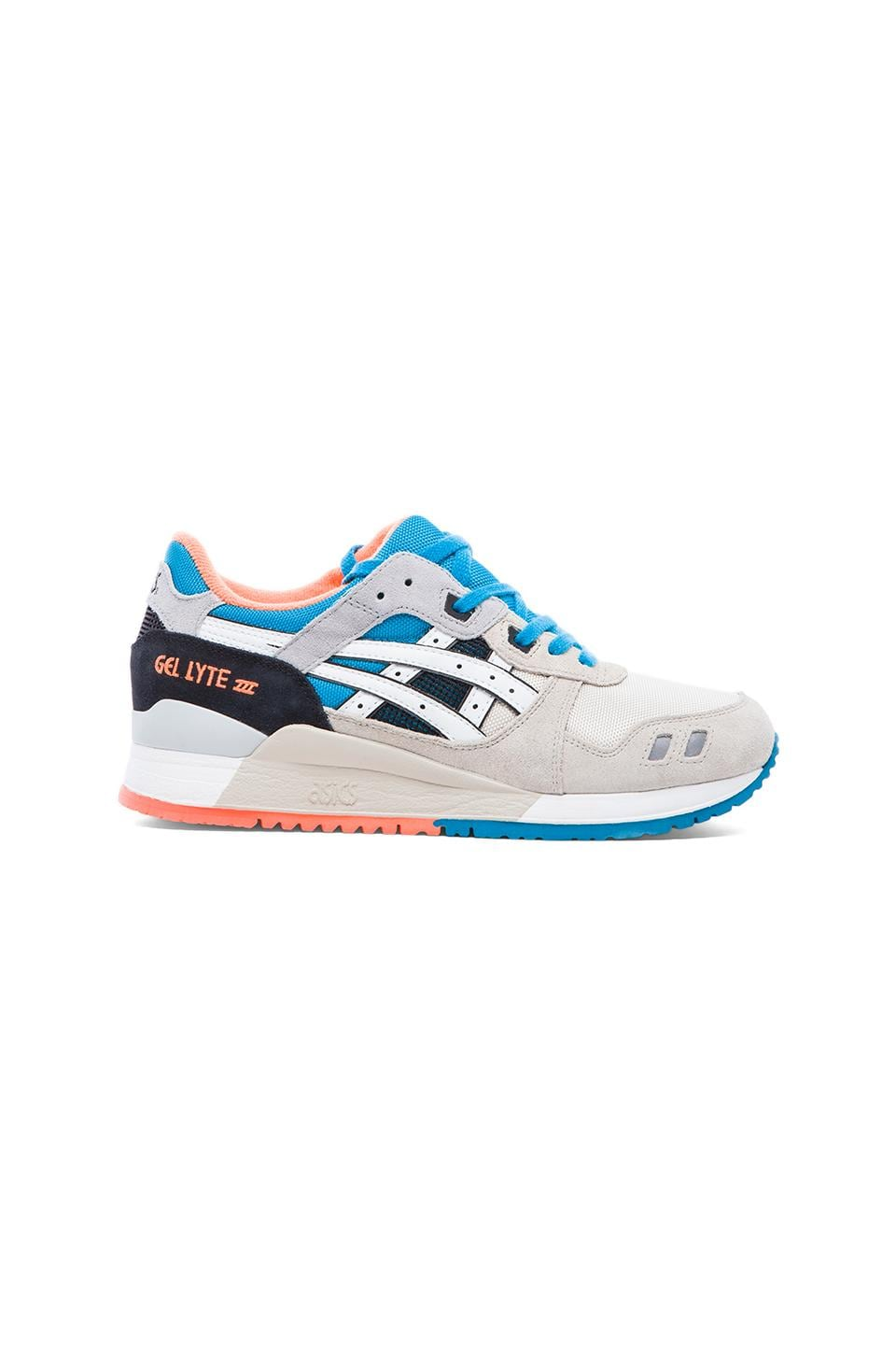 Asics Gel-Lyte III in Off-White & White