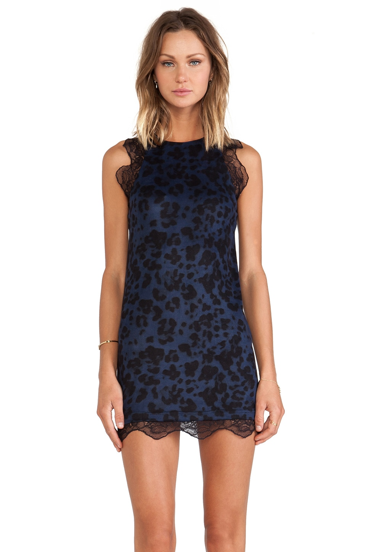 ASILIO Animal Instincts Dress in Blue Leopard