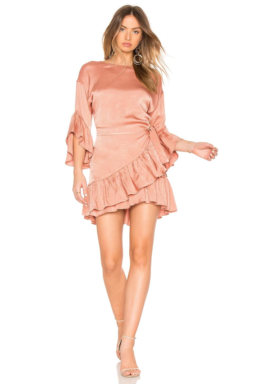 ASILIO Desert Horizon Wrap Dress in Copper