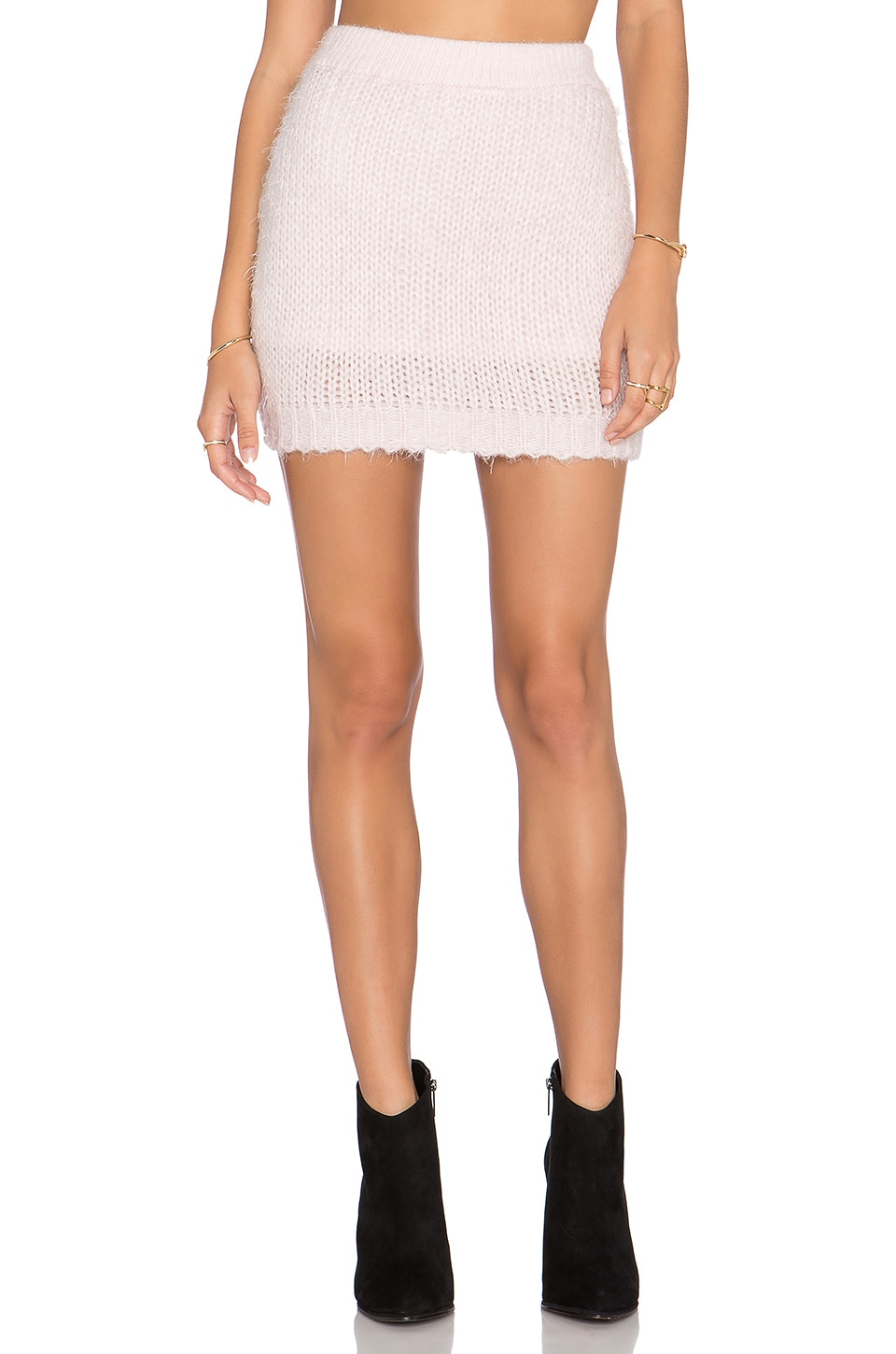 ASILIO The Pink Slipper Skirt in Ice Pink