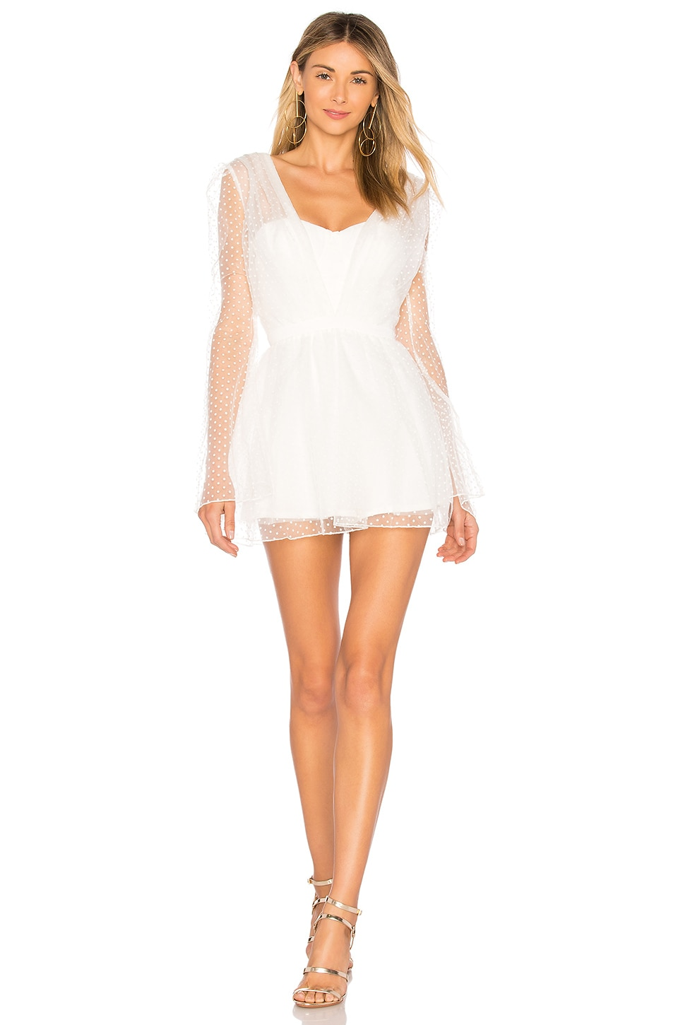 ASILIO Glowing Heart Playsuit in White