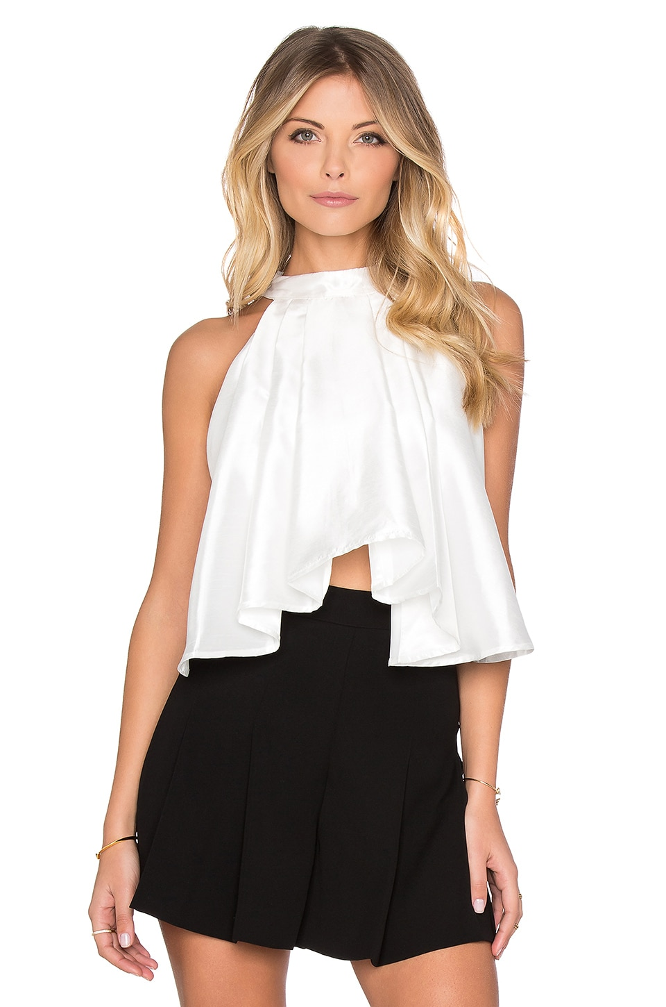 ASILIO Absent Minded Crop Top in Gloss White