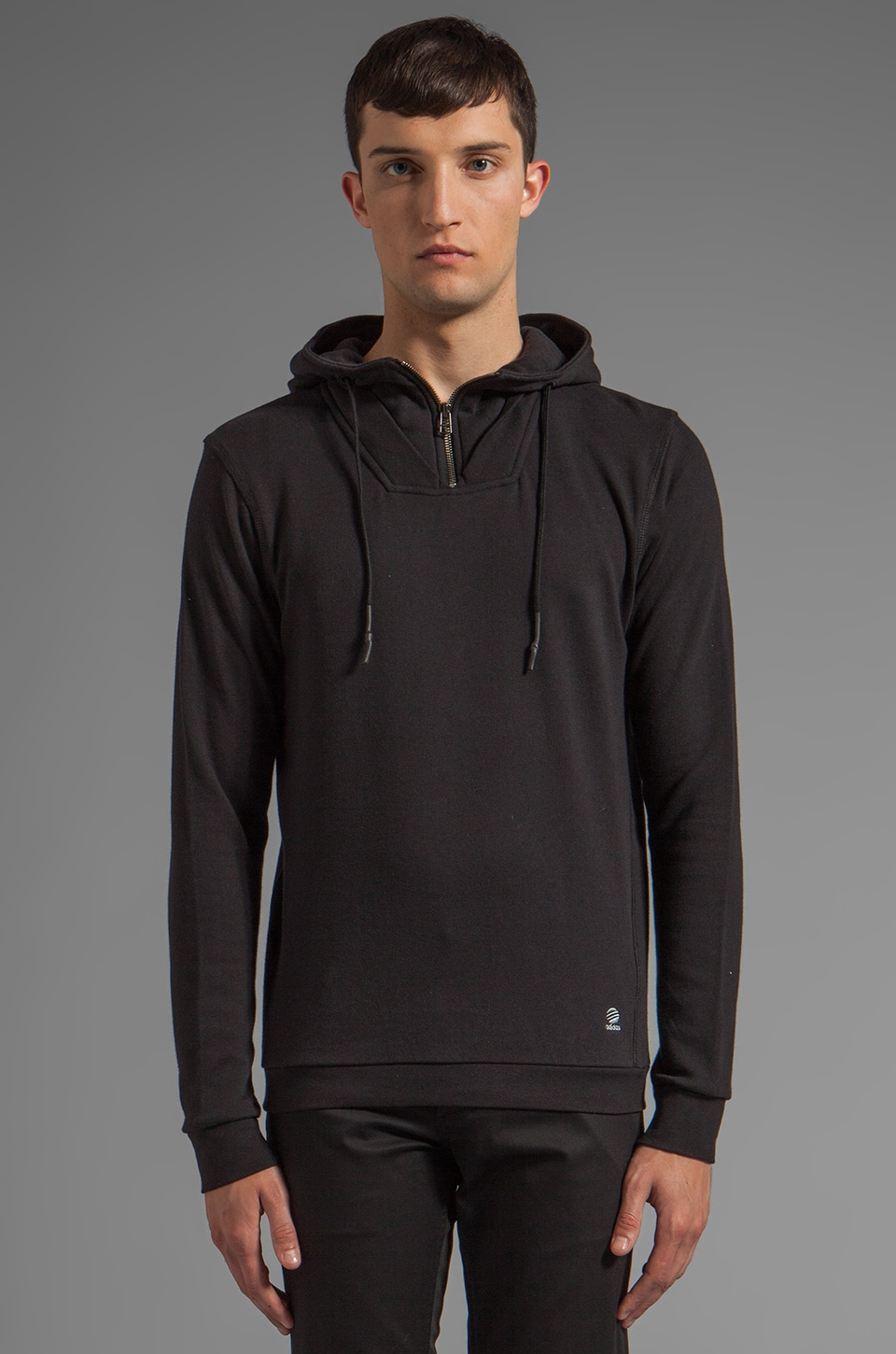 adidas SLVR FT Hoody in Black