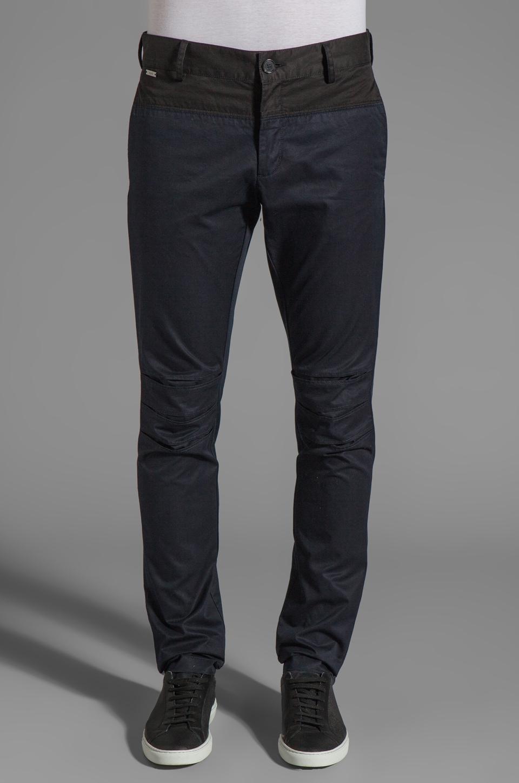 adidas SLVR Color Block Pants in Legend Blue/Black