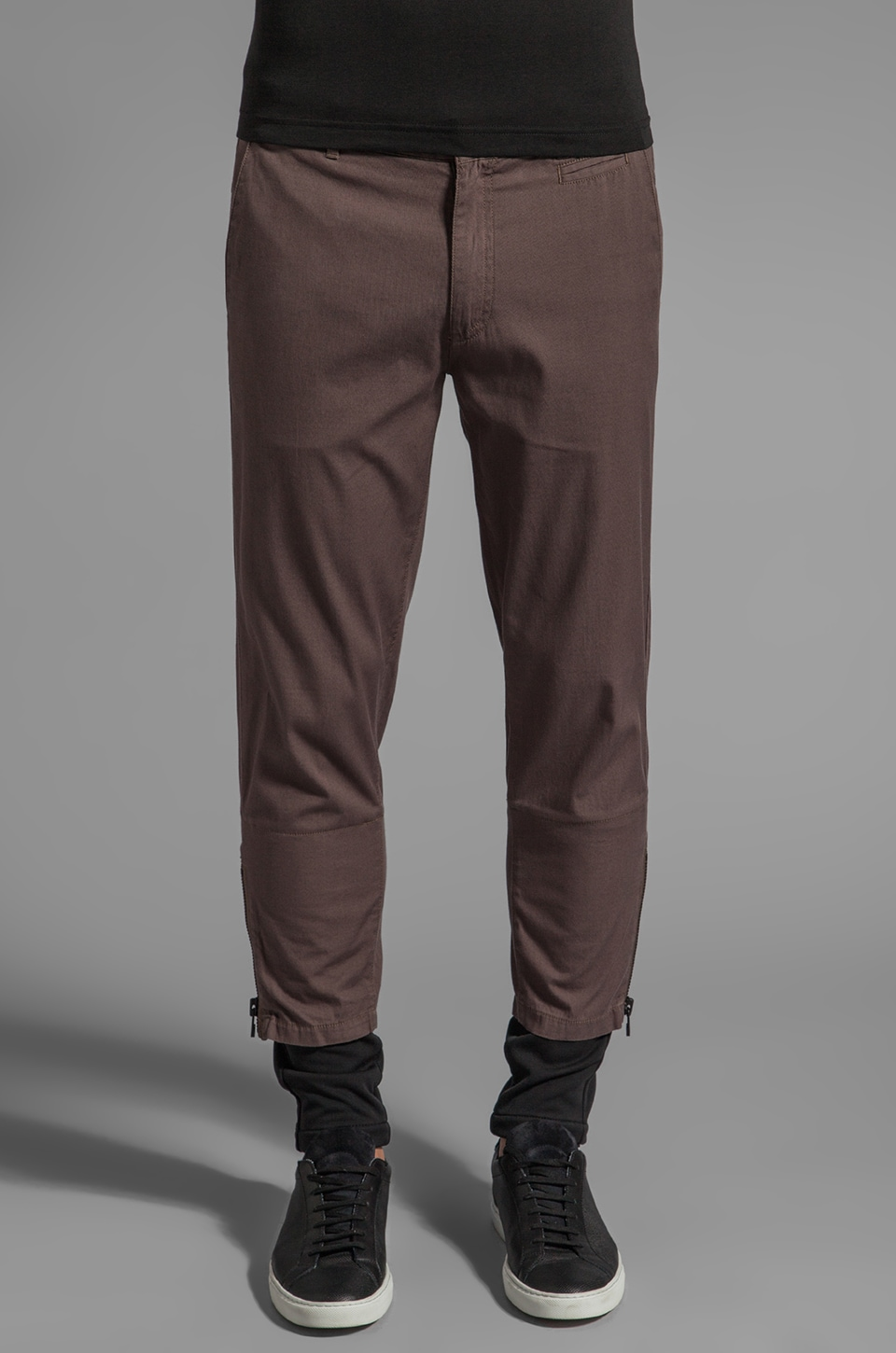 adidas SLVR Slim Cotton Pant in ST Cargo Brown