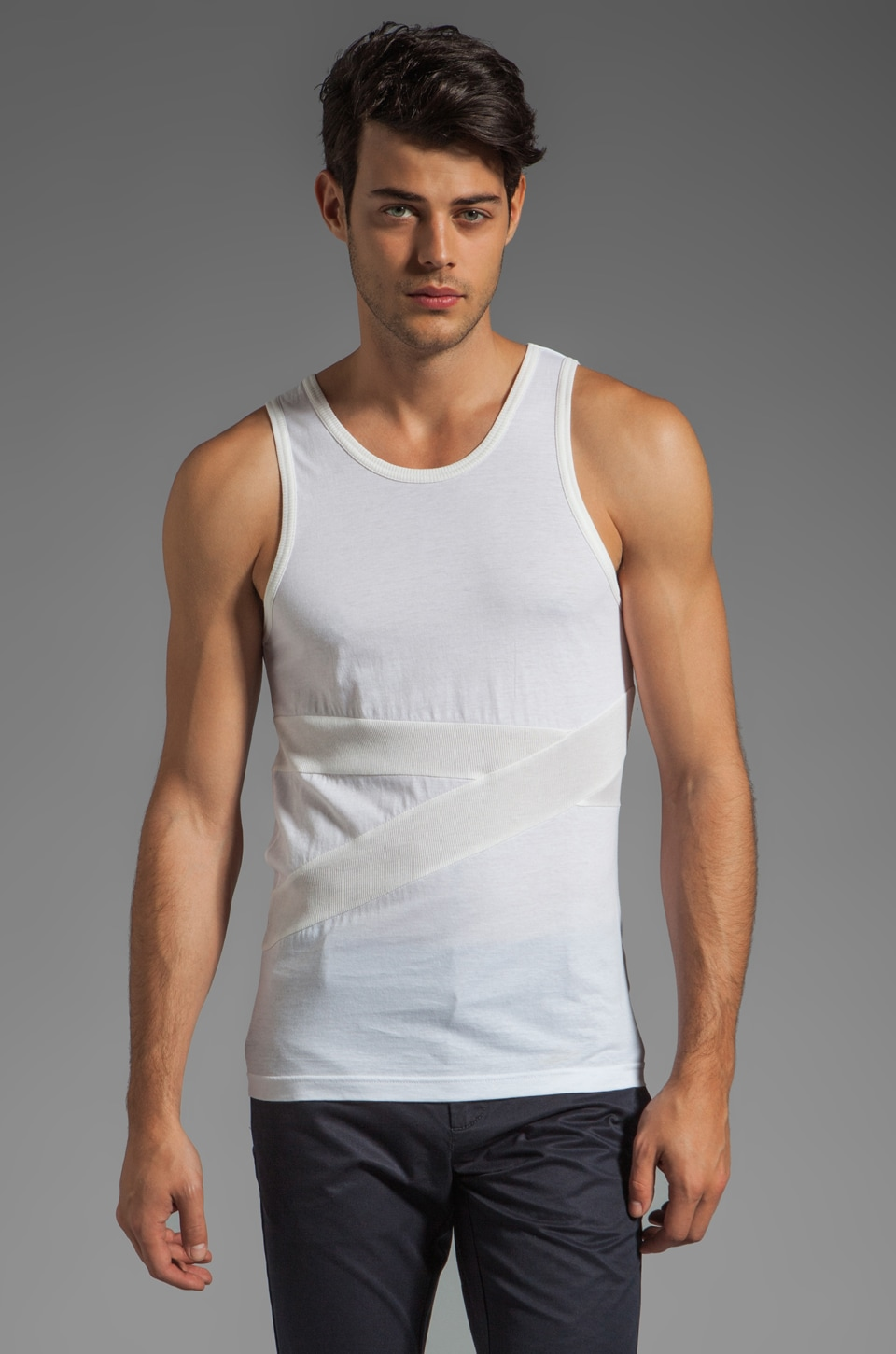 adidas SLVR Banded Tank in White