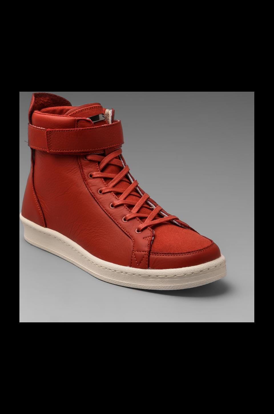 adidas SLVR Cupsole Hi Shoes in Natural Red