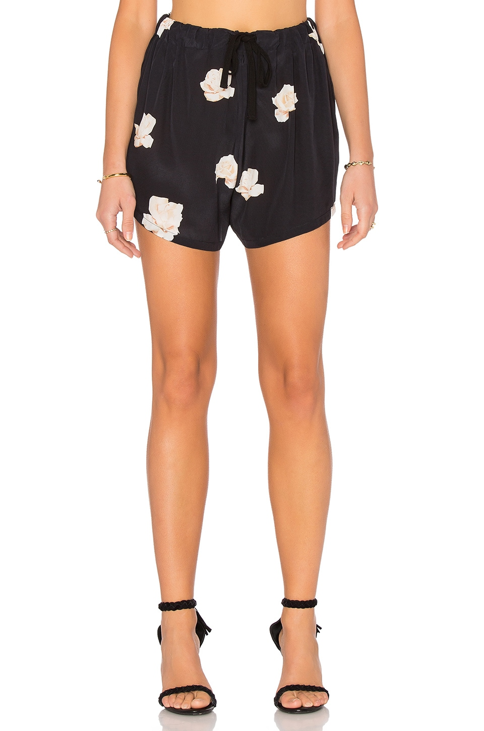 Assembly Label Floral Silk Short in Navy
