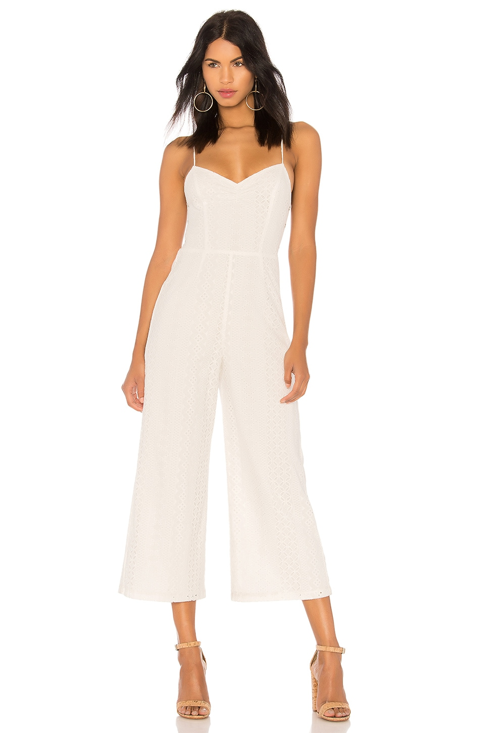 ASTR the Label Leighton Jumpsuit in Off White