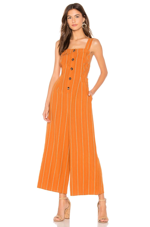 ASTR the Label Baseline Jumpsuit in Papaya Stripe