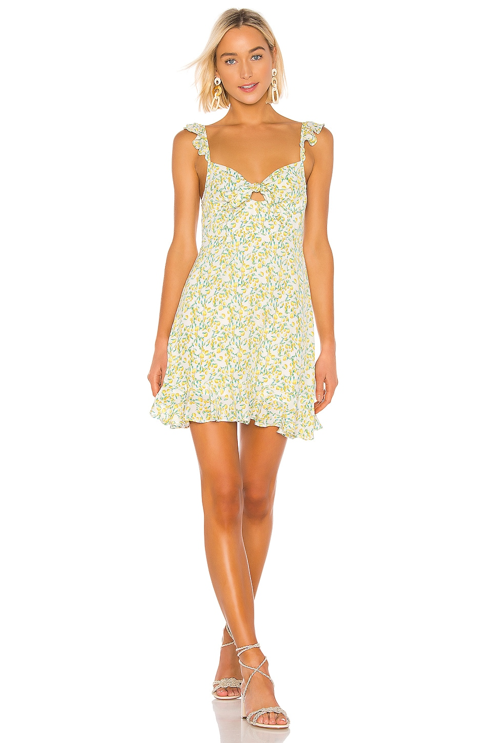 ASTR the Label Marla Dress in Lemon Drop