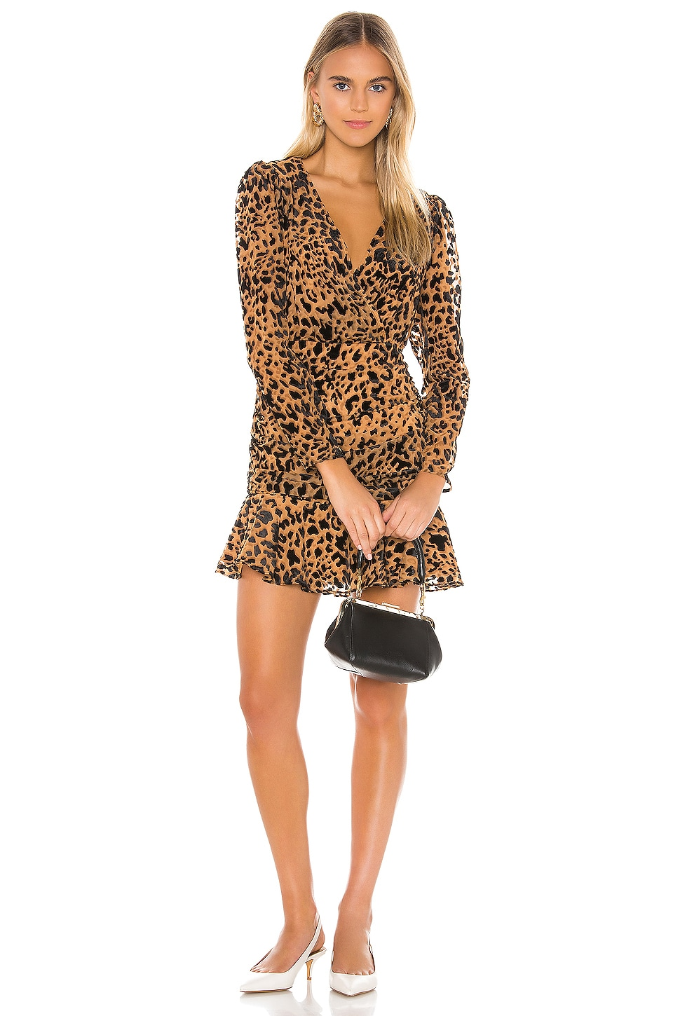 ASTR the Label Nikita Dress in Burnout Leopard