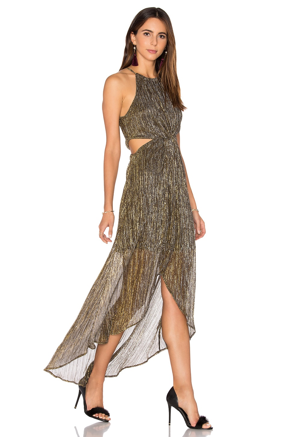ASTR Veda Dress in Metallic Multi