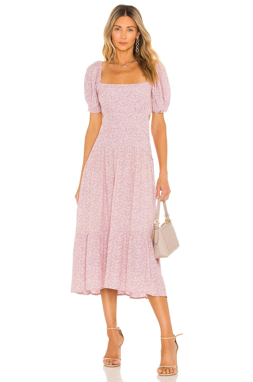 ASTR the Label Montana Dress in Mauve Multi Ditsy