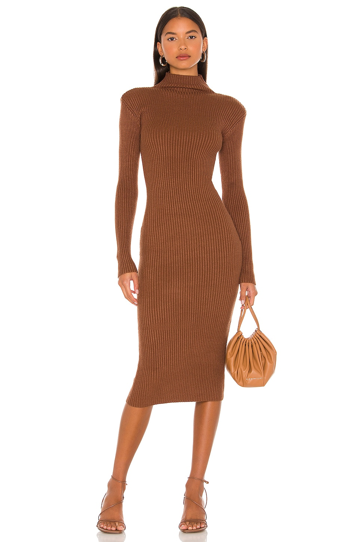 ASTR the Label Abilene Sweater Dress in Nutmeg