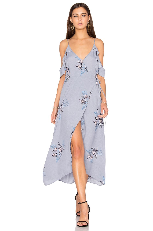 ASTR the Label Gwyn Dress in Periwinkle Floral