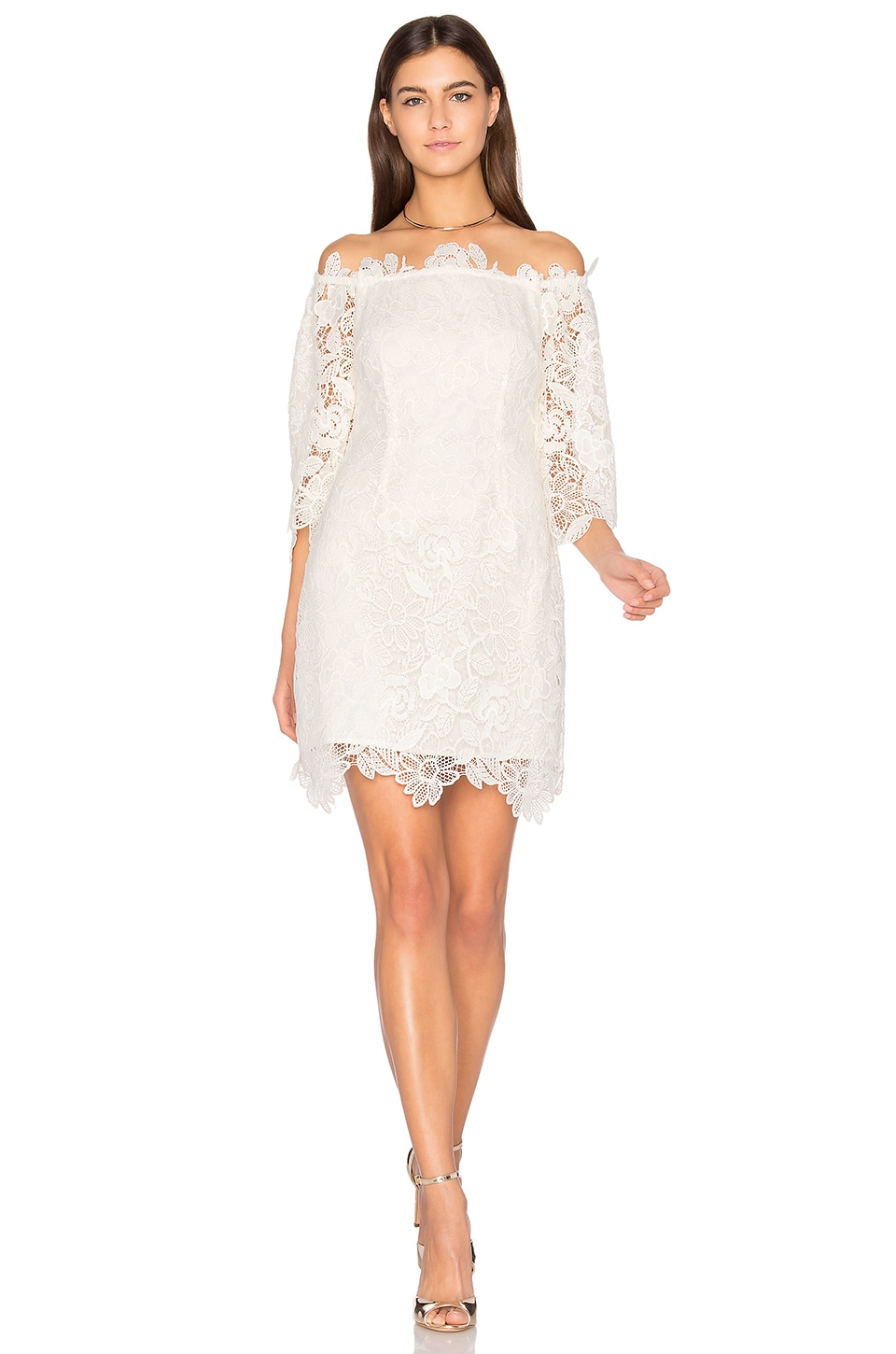 ASTR the Label Madeline Dress in Ivory