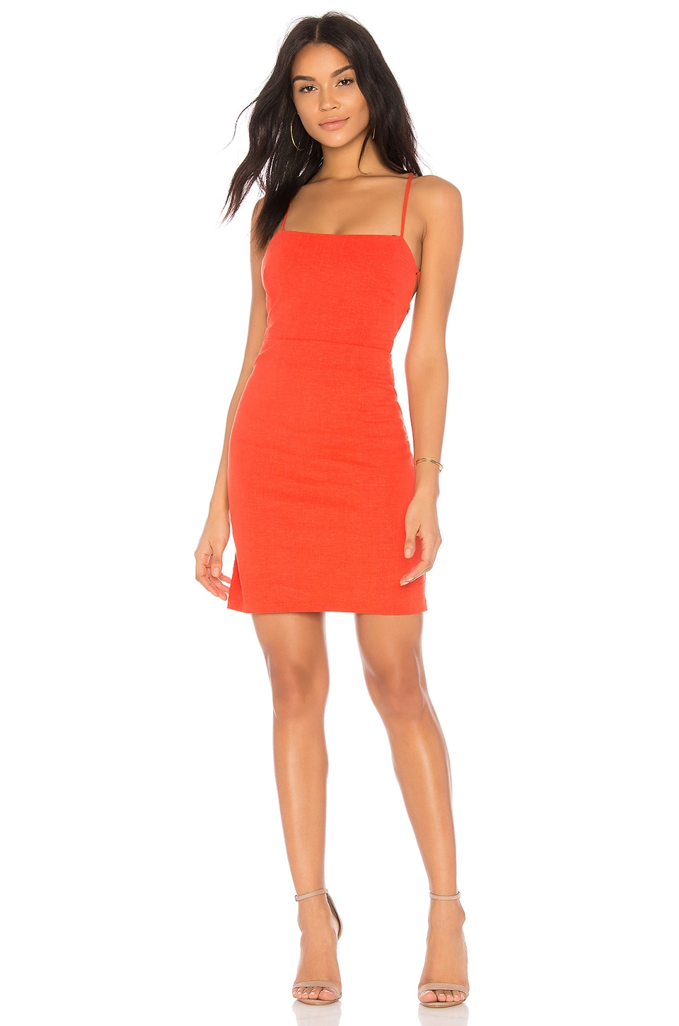 ASTR the Label Marni Dress in Hot Red