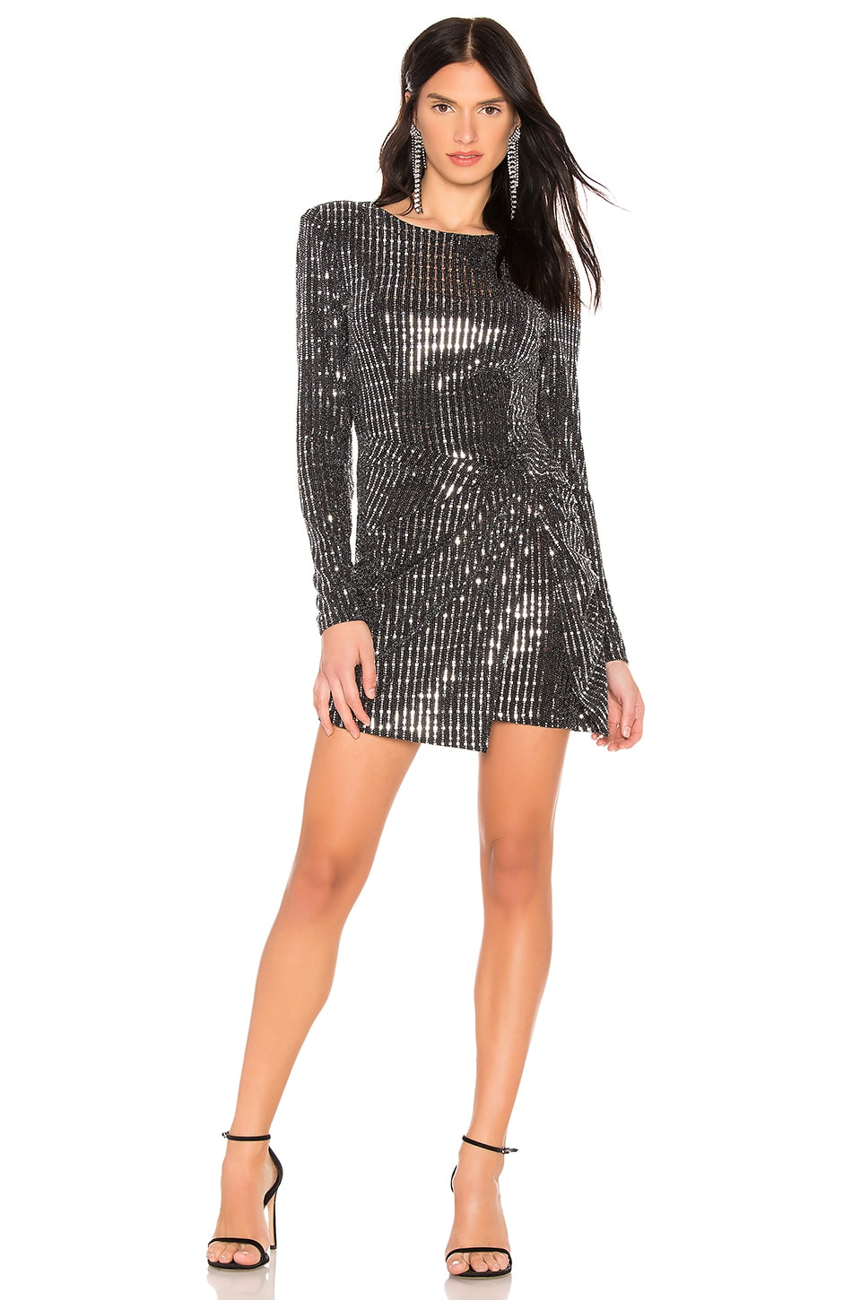 ASTR the Label On The List Dress in Black Mirror