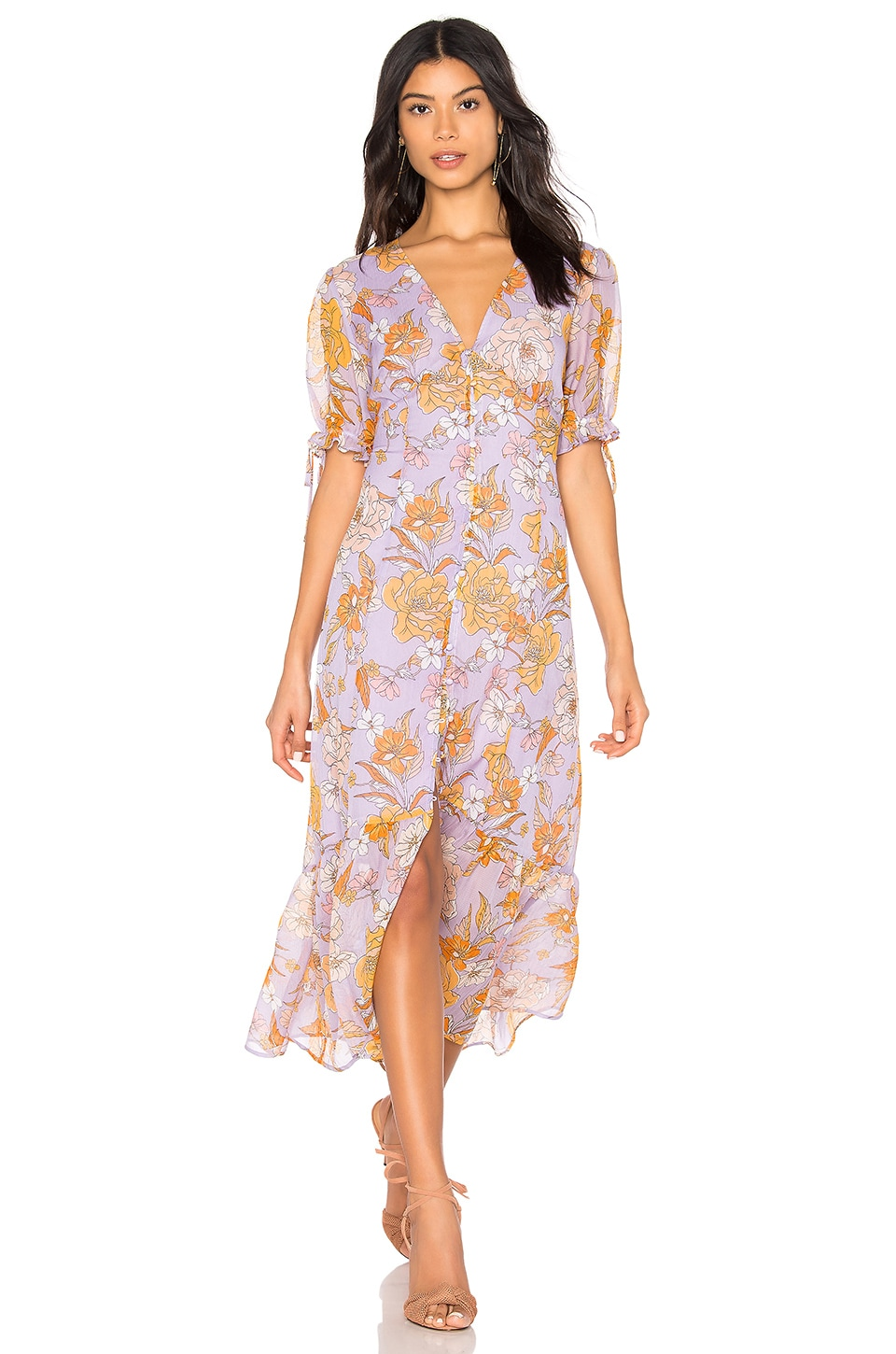 ASTR the Label Chandler Dress in Electric Lilac Floral